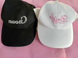 Bride & Groom Matching Baseball Caps NWOT!