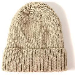 Byyogn Unisex Baggy Casual Crochet Winter Wool Knit Ski Bean