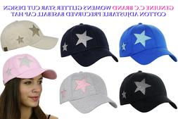 C.C Women's Glitter Star Cut Design Cotton Adjustable Precur