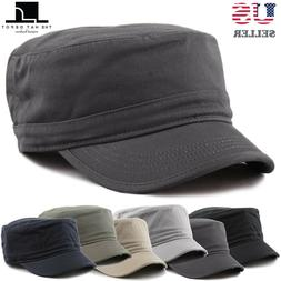 The Hat Depot Cadet Army Washed Cotton Basic Cap Military St