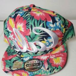 Top Level CALI Tropical Flower Multi-Color Adjutable Snapbac