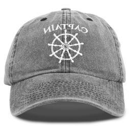 DALIX Captain Hat Sailing Baseball Cap Navy Gift Boating Men