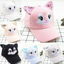 Cartoon Cat Baby Hat With Ears Baseball Cap Summer Boy Girl