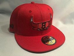 CHICAGO BULLS NEW ERA 59FIFTY COMBO LOGOS RED BASEBALL FITTE