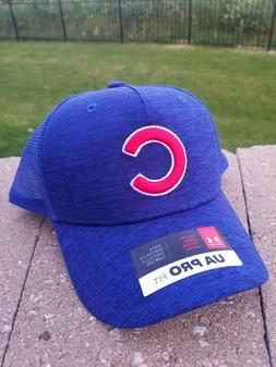 CHICAGO CUBS YOUTH UNDER ARMOUR BASEBALL CAP TRUCKER HAT MES