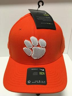 NIKE Clemson Tigers DRI-FIT Swoosh Flex Fitted Baseball Cap