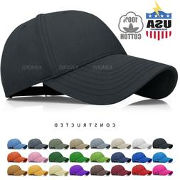 Constructed Cotton Baseball Cap Hat Adjustable Polo Style Pl