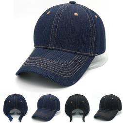 Cotton Baseball Caps Adjustable Polo Style Hat Denim Hats Pl