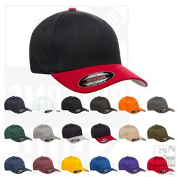 Flexfit Structured Twill Fitted Cap Baseball Hat Mid Profile