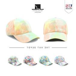 Cotton Cap - The Hat Depot exclusive Tie Dye baseball cap fo