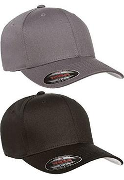 97208a0d9ef Flexfit 2-Pack Premium Original Cotton Twill Fitted Hat …