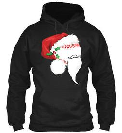 Cute Baseball Santa Hat Christmas T Shir Gildan Hoodie Sweat