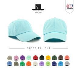 Cotton Hat - The Hat Depot Dad Hat Adjustable Visor Solid Wa