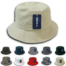 Decky Bucket Fishermen Boonie Hats Caps Washed Cotton Twill