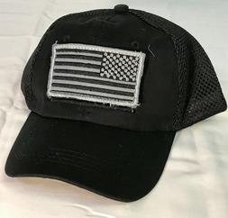 Detachable USA American Flag Baseball Cap Mesh Tactical Mili