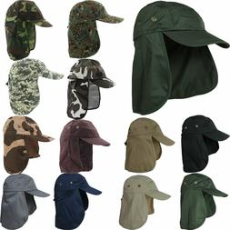 Ear Flap Neck Cover Sun Hat Baseball Camo Military Cap Fishi