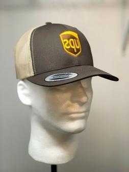 Embroidered UPS Baseball Hat /  UPS FLEXFIT SNAPBACK Trucker