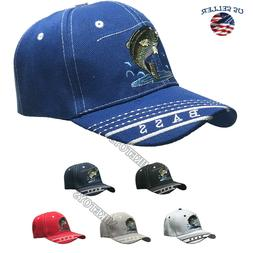 FISHING hat cap FISH Embroidered Outdoor Sports Bass Camoufl
