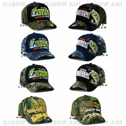 FISHING hat cap FISH Embroidered Outdoor Sports Military Cam