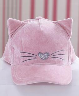 Girls' Baseball Hat Cap - Pink Kitty Cat - NEW in package -
