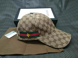 GUCCI HAT Khaki,MEN'S/WOMEN,CANVAS BASEBALL CAP,ADJUSTABLE,S