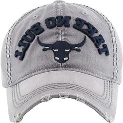 Funky Junque H-212-TNB51 Distressed Vintage Patch Hat - Take