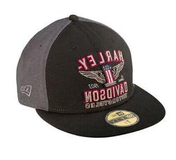 Harley-Davidson Mens #1 Wing 59FIFTY New Era Fitted Baseball