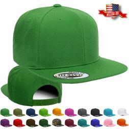 Snapback Hat Classic Hip Hop Style Visor Plain Baseball Cap