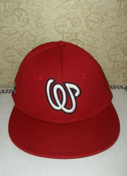 Hat MLB Baseball Washington Nationals Red Fitted Adult XS/S