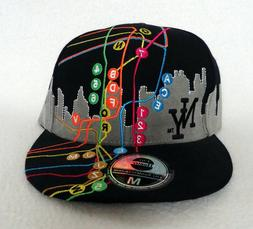 City Hunter Hat New York NY Medium Skyline Fitted Flat Baseb