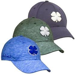 Black Clover Mens Heather Luck Hat Fitted Baseball Cap - Pic