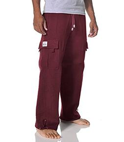Pro Club Men's Heavyweight Fleece Cargo Pants, 5X-Large, Mar