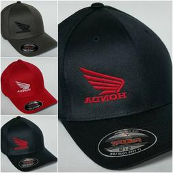 Honda MC Wing FLEXFIT Baseball Hat Cap Honda Motorcycle Flex