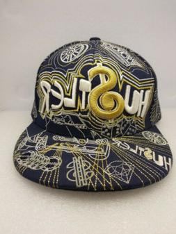 City Hunter Hu$tler Bling Navy Gold & White Baseball Hat Cap