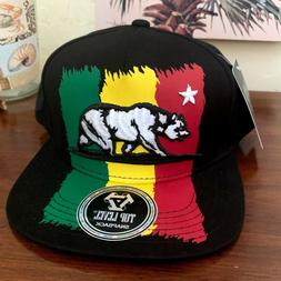 Jamaican Rastafarian California Top Level Flat Bill Snapback