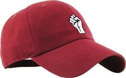 KBSV-029 BUR Fist Dad Hat Baseball Cap Polo Style Adjustable