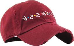 KBSV-126V BUR Finesse Dad Hat Baseball Cap Polo Style Adjust