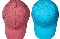 Adams Kid's Optimum Twill Caps Set_Caribbean Blue / Nautical