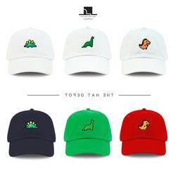 Kids Cotton Cap - The Hat Depot Dinosaur Embroidered Cotton