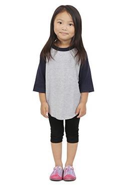 Hat and Beyond Kids Raglan 3/4 Sleeves Baseball T Shirts Bab