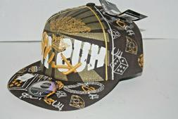 City Hunter King Hustler Bling Black N Gold Baseball Hat Cap
