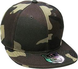 KBETHOS KNW-2364 CAM  The Real Original Fitted Flat-Bill Hat