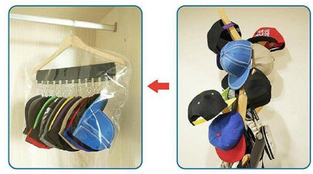 1 Closet Rack Hat Holder Rack Home Organizer Door Hange