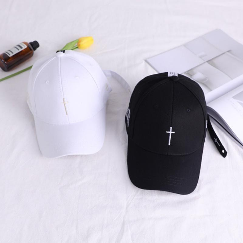 2019new Simple Cross <font><b>Baseball</b></font> <font><b>Cap</b></font> Hip Streetwear White Outdoor Sun Unisex dad <font><b>caps</b></font>