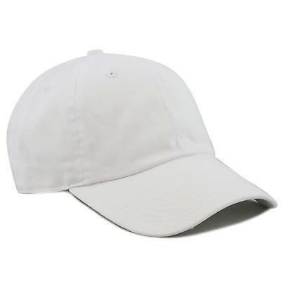 THE HAT DEPOT 300N Washed Cotton Low Profile Baseball Cap Wh