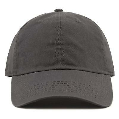 THE HAT Washed Low and Baseball Cap Charcoal