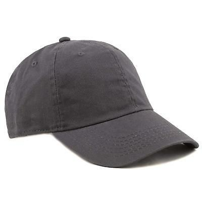THE HAT DEPOT 300N Washed Low Profile Cotton and Denim Baseb