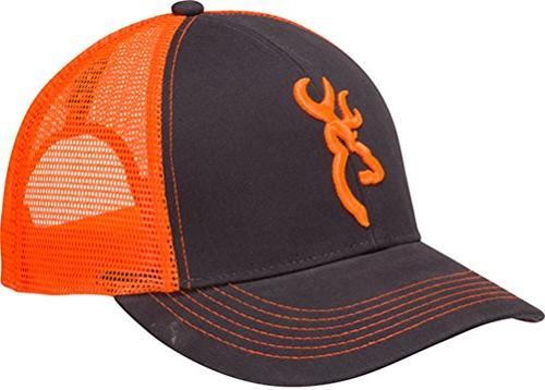 Browning 308177621 Flashback Neon Cap Charcoal/Neon Orange B