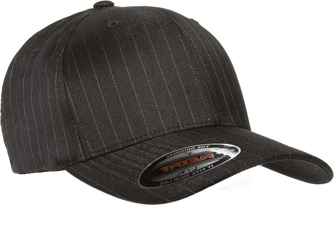 6195P Flexfit Pinstripe Fitted Baseball Blank Plain Hat Ball