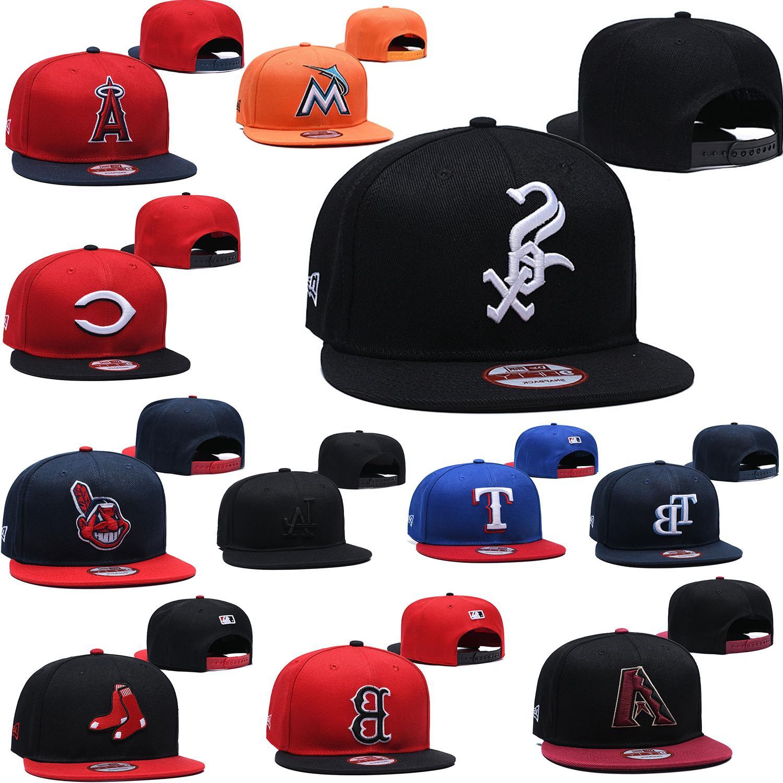 adjustable embroidery team logo flat brim baseball
